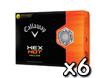 Callaway 2013 HEX Hot Jaune Balles de Golf x6