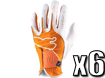 Puma 2013 Performance Glove Vibrant Orange S x6