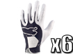 Puma 2013 Performance Glove White Black ML x6