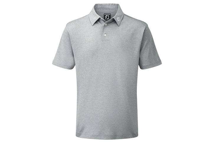 FootJoy 2019 Performance Stretch Solid Pique Polo Grey (S)