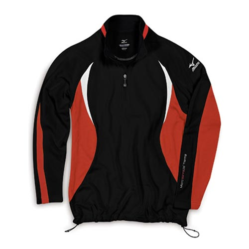 Mizuno 2011 Warmalite 1/4 Zip Black Orange L