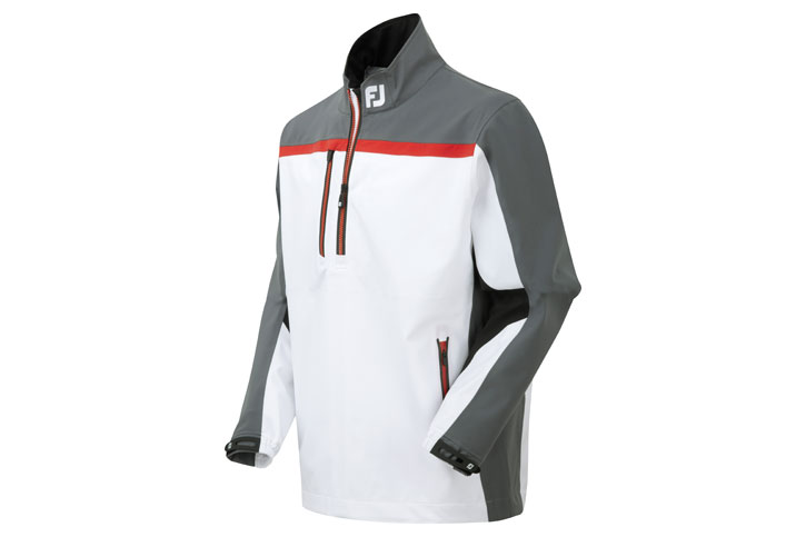 Footjoy 2015 16 Dryjoy Tour Xp Rain Shirt White Charcoal