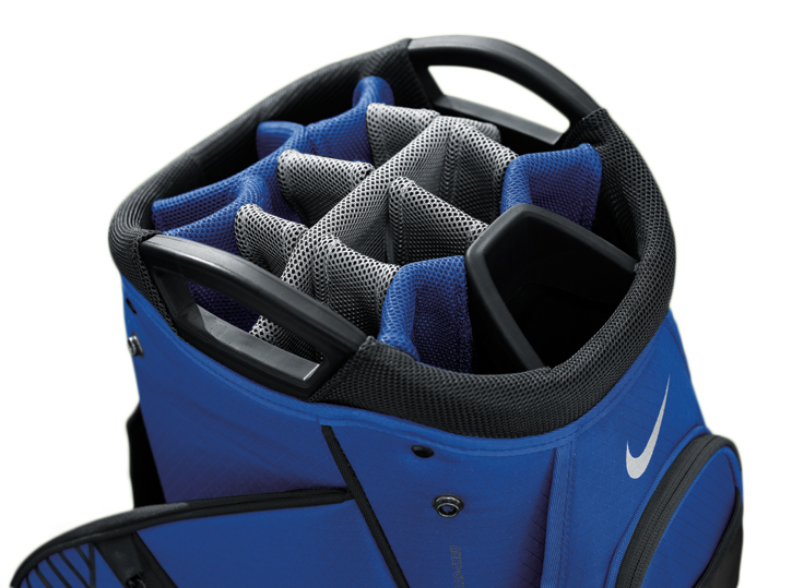 nike 2015 m9 iii cart bag blue golf accessories golfbidder. Black Bedroom Furniture Sets. Home Design Ideas