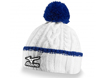 Mizuno AW2013 Cable Knit Bobble Hat White