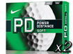 Nike 2014 PD8 Soft Balles de Golf x2