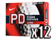 Nike 2014 PD8 Long Golfballen x12