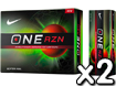Nike 2013 One RZN Golf Balls x2 with FREE VR Hat Clip Ball Marker