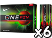 Nike 2013 One RZN Golf Balls x6 with FREE VR Hat Clip Ball Marker