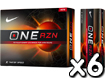 Nike 2013 One RZN X Golf Balls x6 with FREE VR Hat Clip Ball Marker