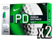 Nike 2014 PD8 Soft Golf Balls with FREE Sharpies x2