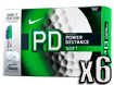 Nike 2014 PD8 Soft Golf Balls with FREE Sharpies x6