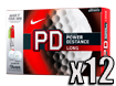 Nike 2014 PD8 Long Golf Balls with FREE Sharpies x12