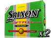 Srixon 2014 Soft Feel Balles de Golf Jaune x2