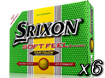 Srixon 2014 Soft Feel Balles de Golf Jaune x6