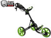 Clicgear 3.5 Push Cart Charcoal Lime