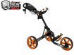 Clicgear 3.5 Push Cart Charcoal Orange