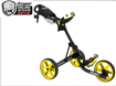 Clicgear 3.5 Push Cart Charcoal Yellow