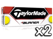 TaylorMade 2013 Burner Golf Balls Yellow x2