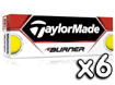 TaylorMade 2013 Burner Golf Balls Yellow x6