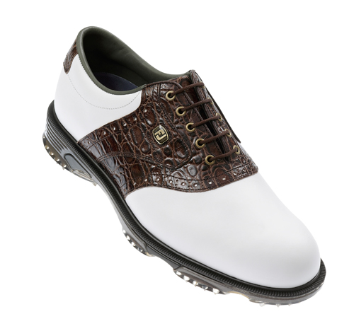 FootJoy DryJoys Tour Golf Shoes 2011 White Brown UK 8