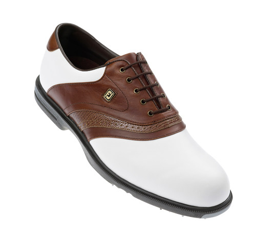 FootJoy AQL Golf Shoes 2011 White Brown UK 10.5