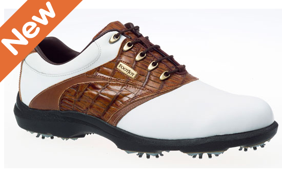 footjoy aql golf shoes white brown uk 10 golf