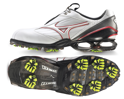 Mizuno Stability Style Golf Shoe 2011 White Red UK 9.5