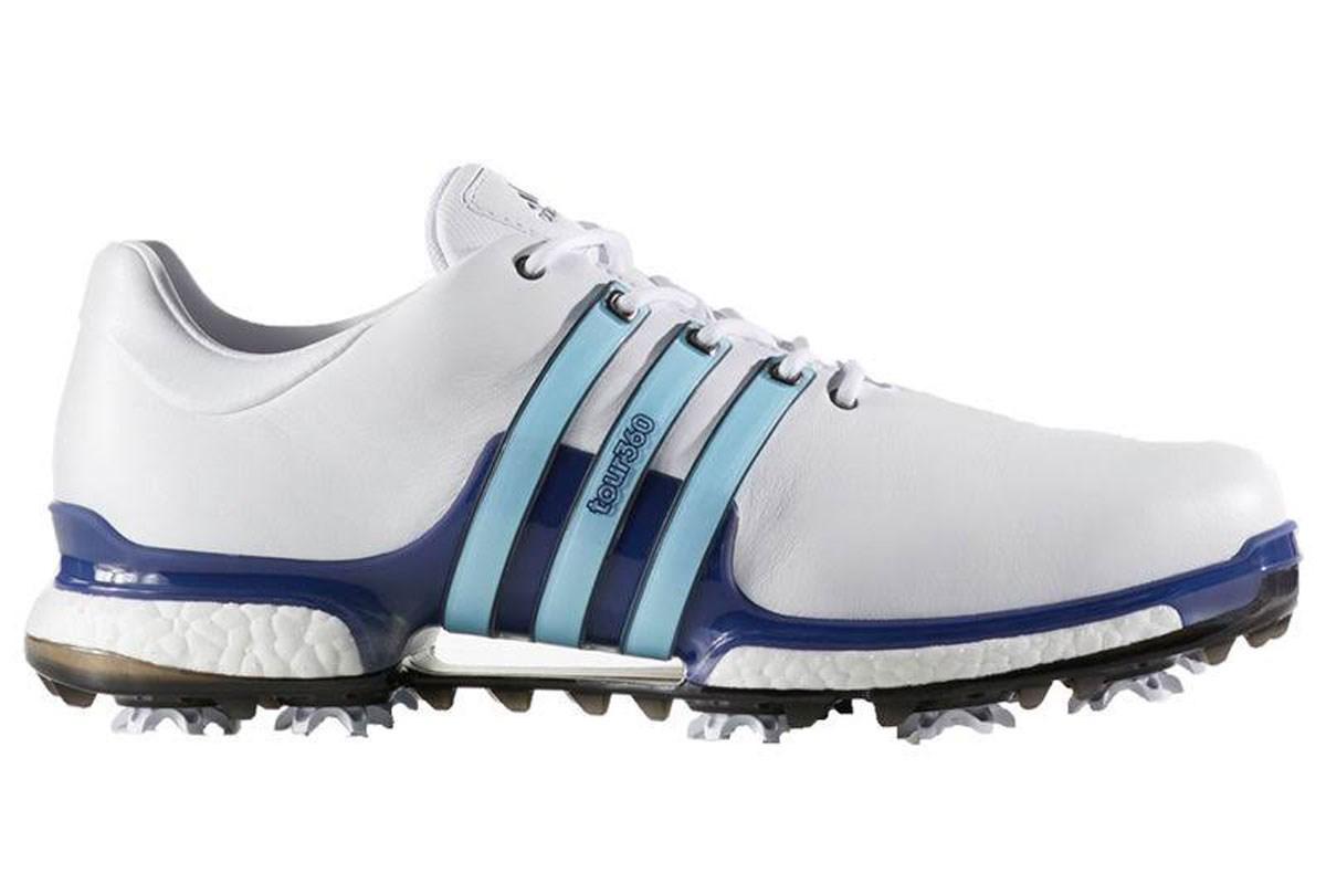 Adidas Uk 11 Wide Tour360 Boost 2 0 Golf Shoes White Blue Golf Accessories Golfbidder