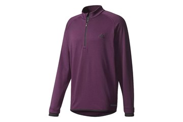 ab8dca59e27e Adidas Climaheat Gridded 1 4 Zip Sweater Red Night (m) - Golf ...