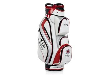 1c0da7e6ff3 Stewart Golf Pro Cart Cart Bag White Red - Golf Accessories - Golfbidder