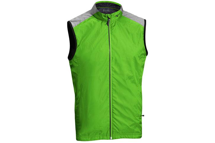 Mizuno Windproof Vest Green Grey (L) - SALE