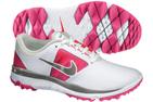 Nike 2014 FI Impact Golf Shoes White Vivid Pink (UK 4) - SALE - SALE
