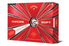 Callaway 2019 Chrome Soft Truvis Golf Balls White Red 3PK (36 Golf Balls)