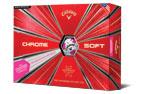 Callaway 2019 Chrome Soft Truvis Golf Balls White Pink 3PK (36 Golf Balls)