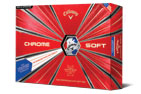 Callaway 2019 Chrome Soft Truvis Golf Balls White Red Blue 3PK (36 Golf Balls)
