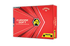 Callaway 2020 Chrome Soft Truvis Golf Balls Yellow Black