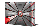 Callaway 2019 Chrome Soft X Truvis Golf Balls White Red 3PK (36 Golf Balls)