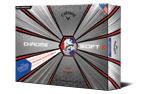 Callaway 2019 Chrome Soft X Truvis Golf Balls White Red Blue 3PK (36 Golf Balls)