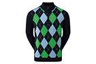 FootJoy Wool Blend 1/2 Zip Lined Sweater Navy Argyle