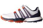 adidas (UK 9.5 WIDE) Powerband BOA Boost Golf Shoes White - SALE