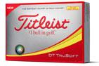 Titleist 2018 DT Trusoft Golf Balls Yellow 3PK (36 Golf Balls)
