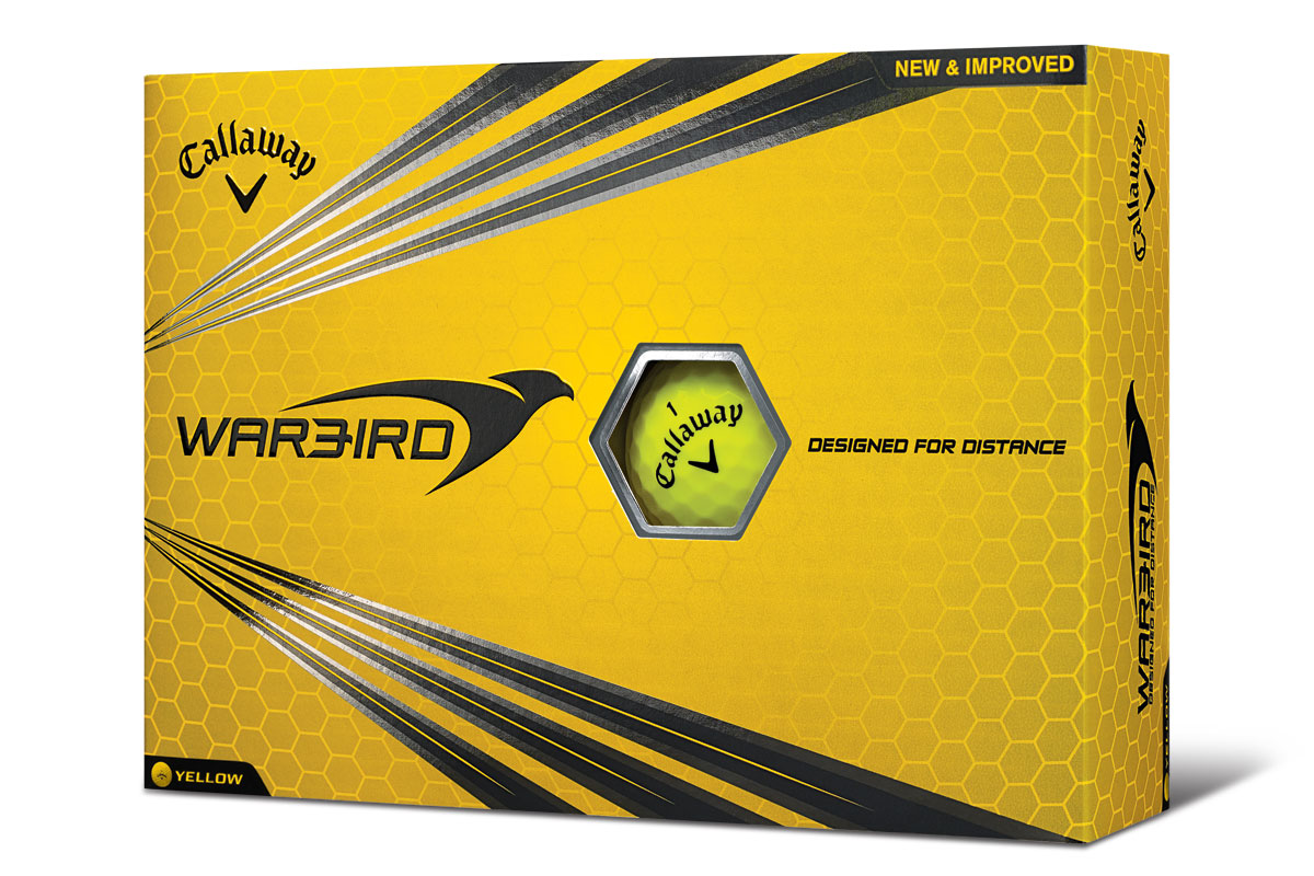 Callaway 2017 Warbird Golf Balls Yellow 3PK (36 Golf Balls)